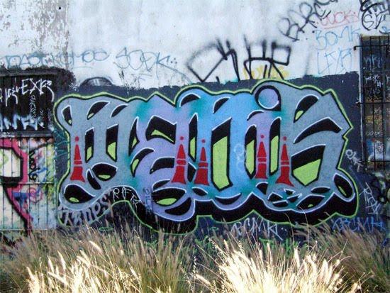 Graffiti Tagging With Blue Color Design New Grafiti Makmu