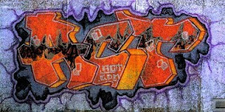 ACT Stack Graffiti Alphabet Letter Orange Fonts Color