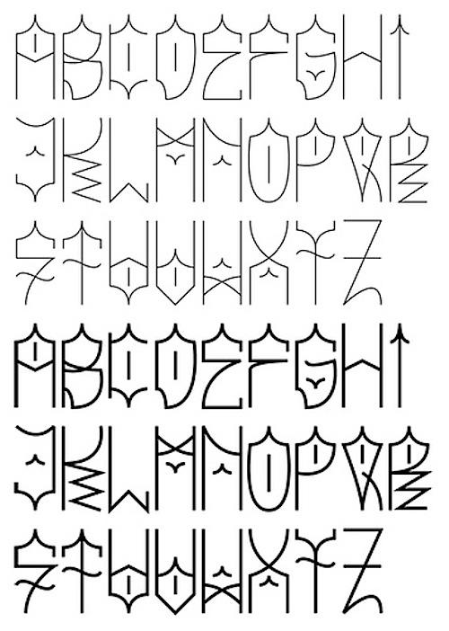 abecedario en graffiti. abecedario de graffiti