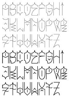Graffiti Alphabet Sketches AZ