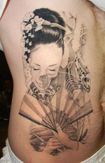 style artists tattoo back japanese geisha tattoo design. Black Bedroom Furniture Sets. Home Design Ideas