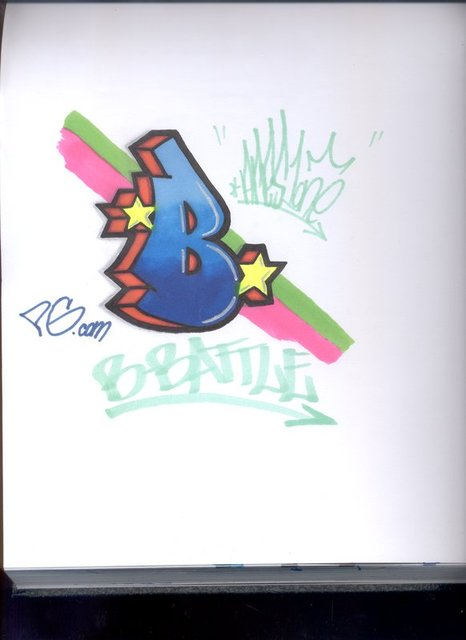 Graffiti Letter B Bubble Design 2
