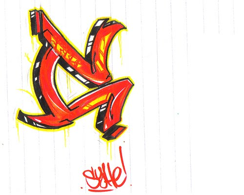 Graffiti Letter C Design
