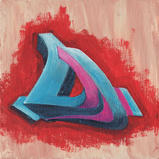 Graffiti Letter D Bubble