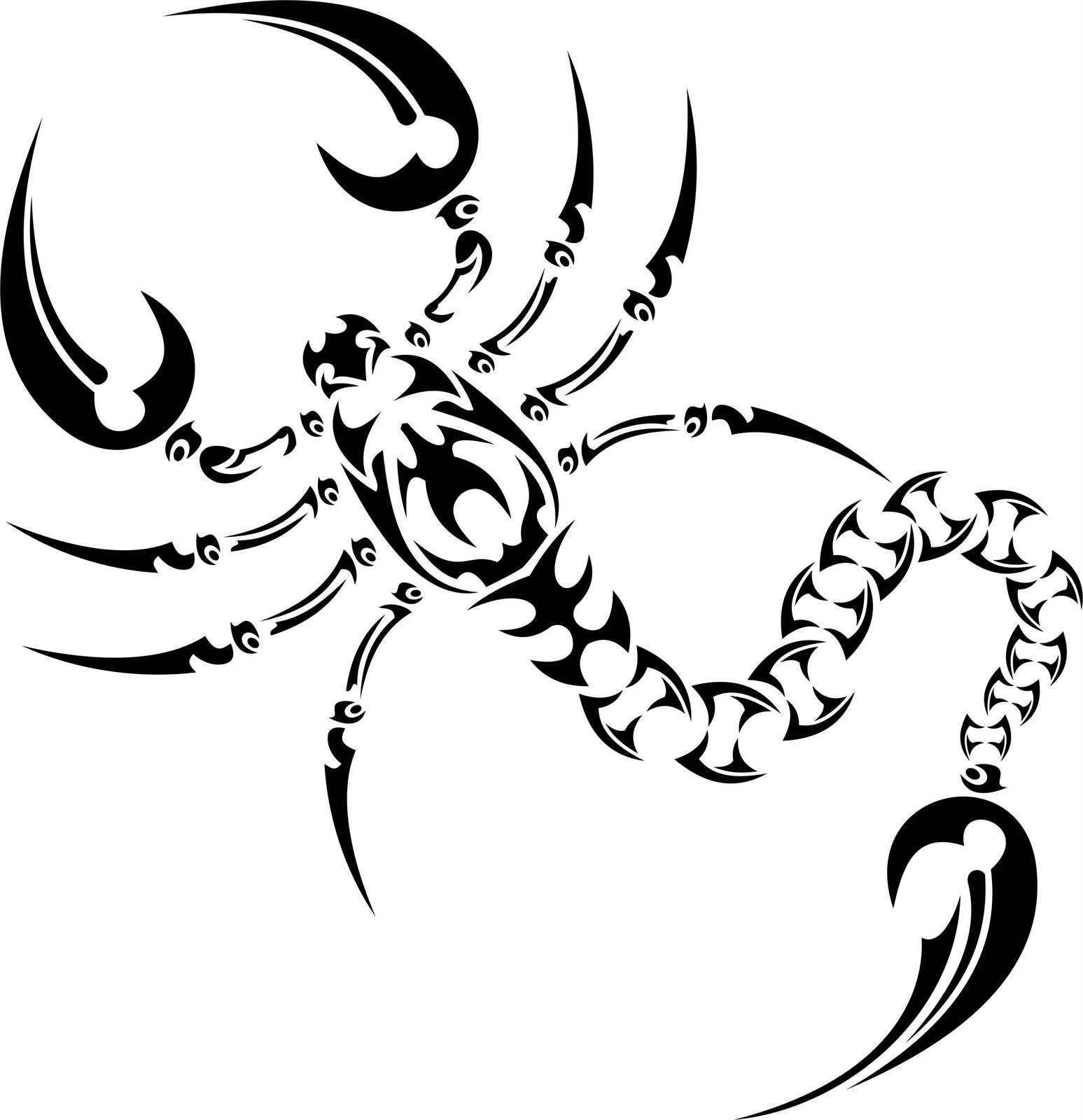 Tribal-Tattoos Scorpion%2BTattoo%2BTribal%2BStyle%2BDesign%2B5