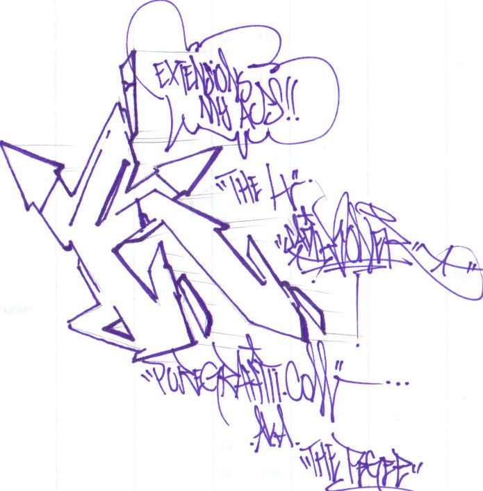 Graffiti Letter F Sketches Design