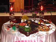 جشن شب يلدا - سفره يلدا به سبك ايراني و زرتشتي