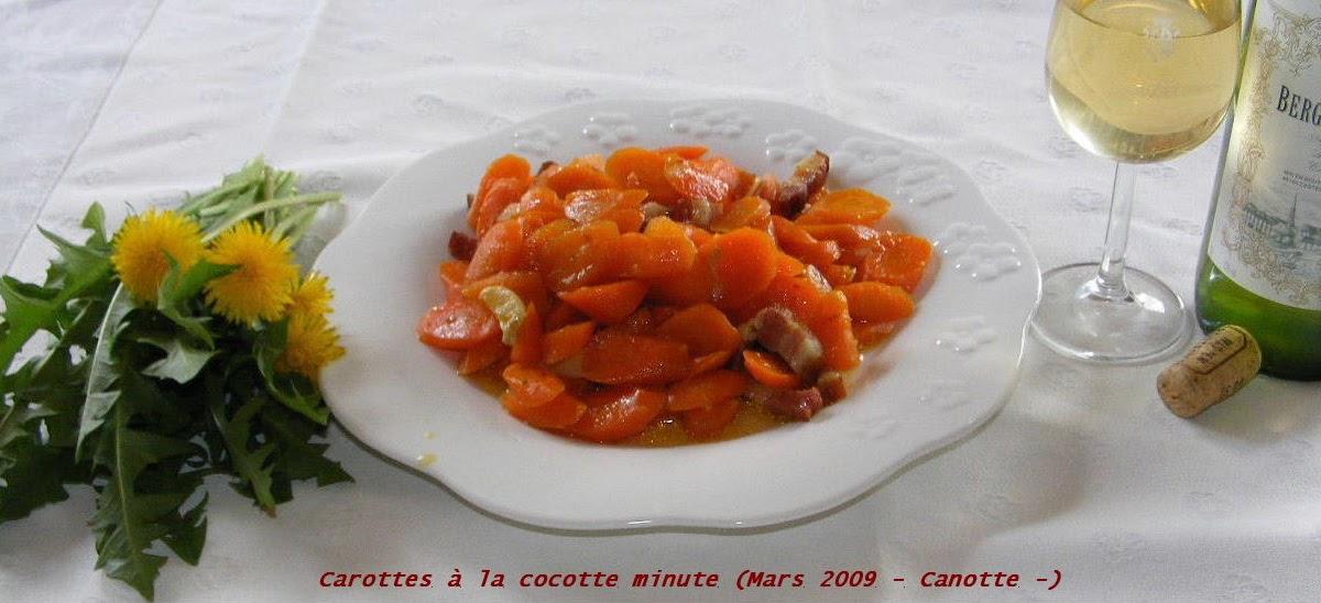 Cuisine et campagne de france carottes en cocotte minute - Cuisine cocotte minute ...