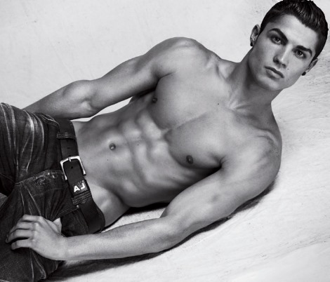 Cristiano Ronaldo for Armani underwear shirtless body