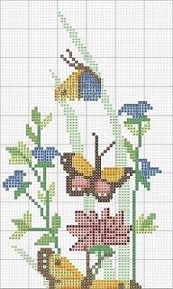 A casa di gabry cuscini con ricamo a punto croce for Farfalle punto a croce
