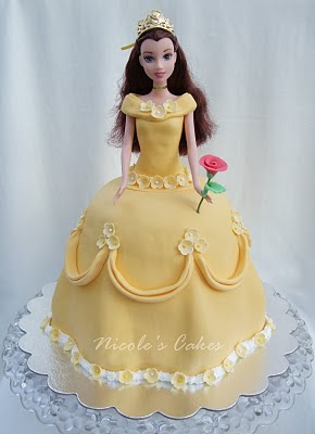 Confections, Cakes & Creations!: Beautiful Princess Belle Cake
