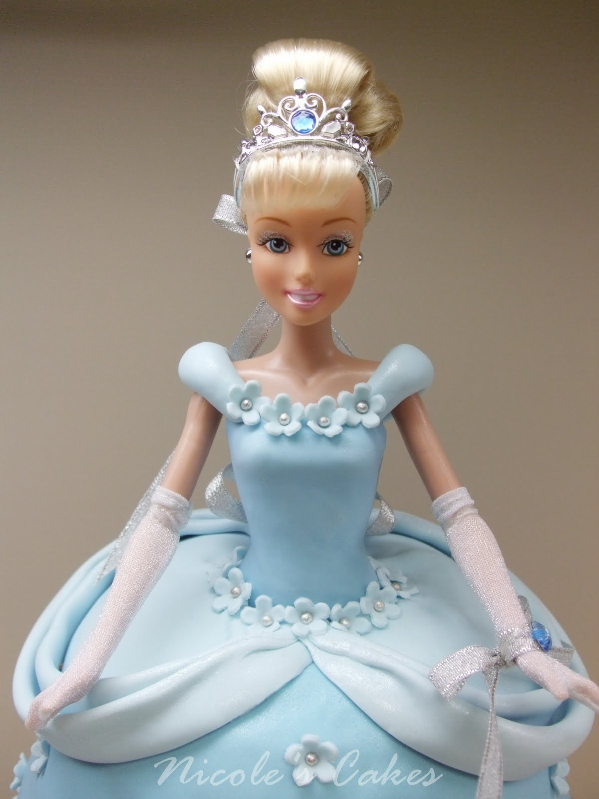 How To Decorate A Cinderella Doll Cake
