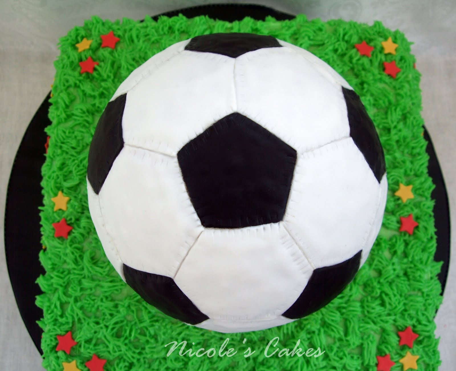 On Birthday Cakes: Soccer Ball Cake