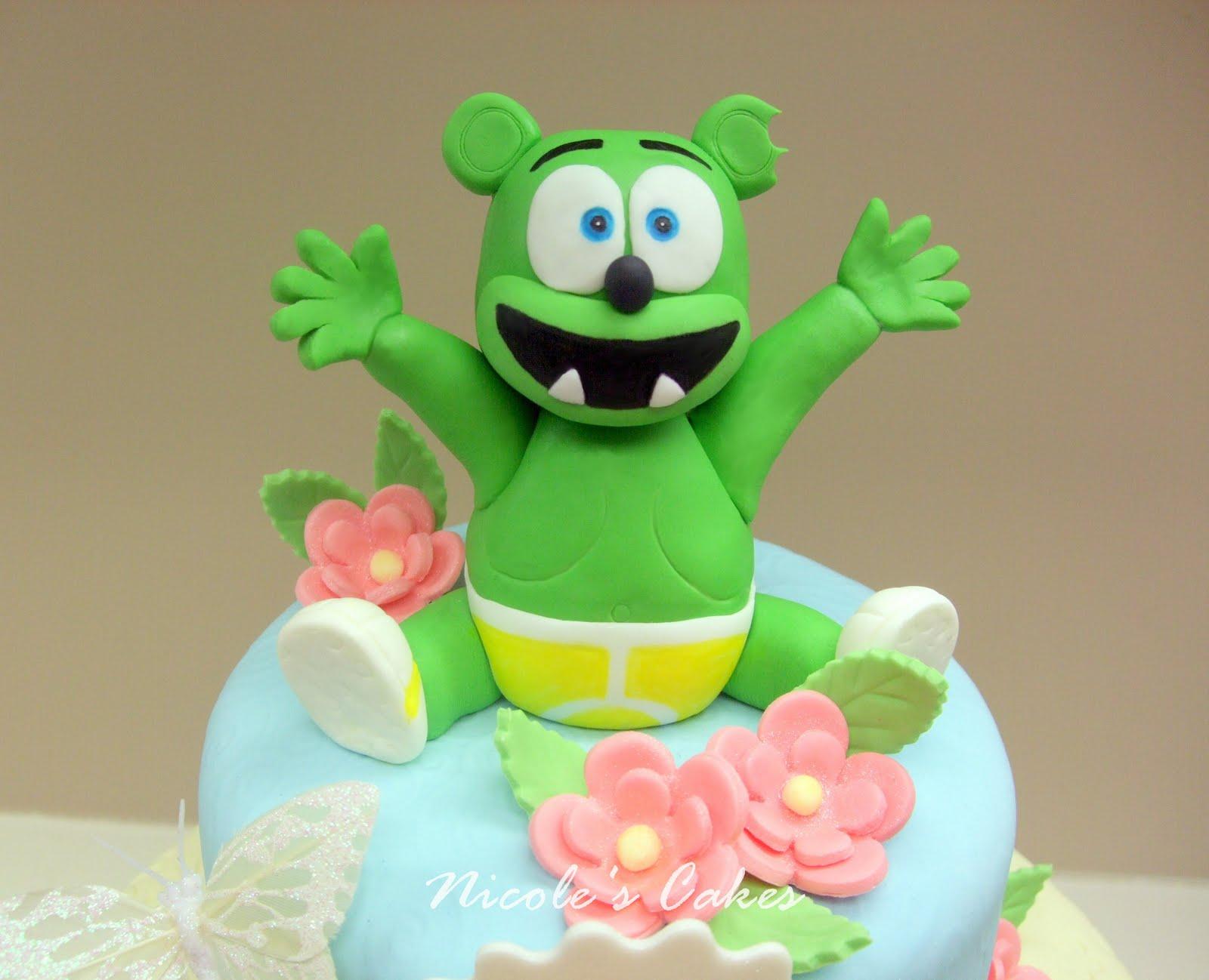 On Birthday Cakes Gummy Bear 1st Birthday Cake