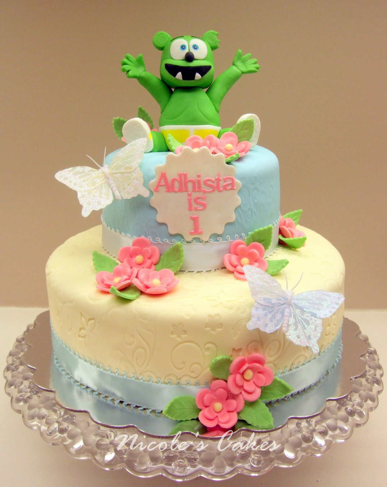 On Birthday Cakes: Gummy Bear 1st Birthday Cake