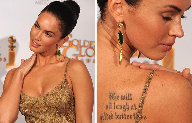 Megan Fox Tattoo - Megan's collection of tattoos is extensive scfscfs