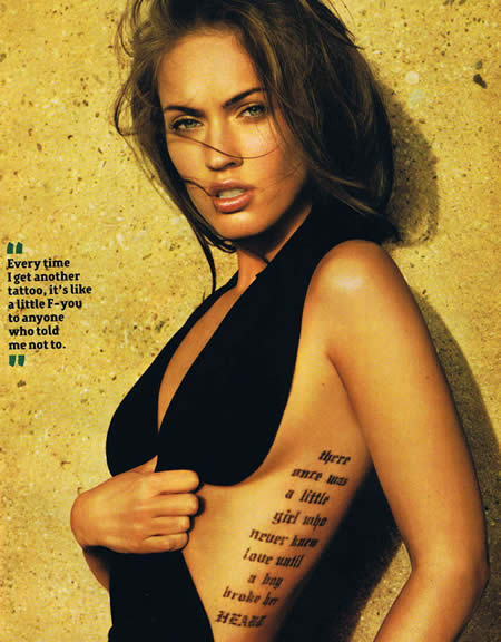 Megan Fox Tattoodzdfg