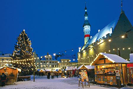 Очень красиво в эстонии в канун нового