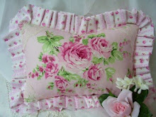 Soft Pink Rose Cottage Pillow