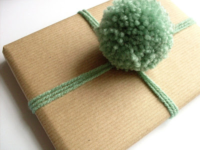 Wrap Your Gift Using Pompoms