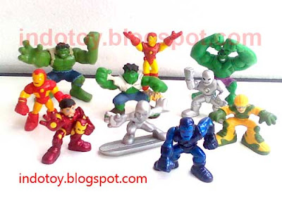 Jual Hulk, Ironman Super Hero Squad Figure