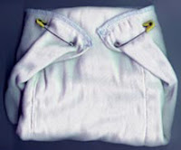 pinned prefold diaper