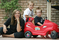 TIME PRESSURES - Vanessa Thompson conceived her twins Jak and Zeb through IVF after struggling to fall pregnant in her late thirties