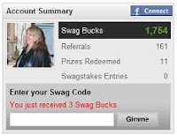 You just received 3 Swag Bucks