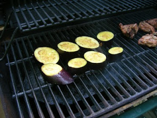 eggplant on the grill