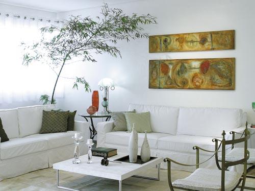 sala branca decorada