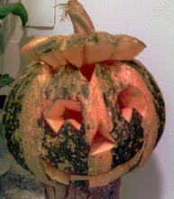 Halloween in casa Anny...intagliata dal mio maritino!