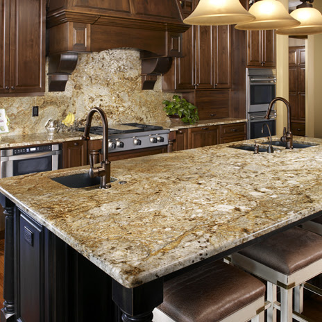 Golden Crystal Granite Backsplash