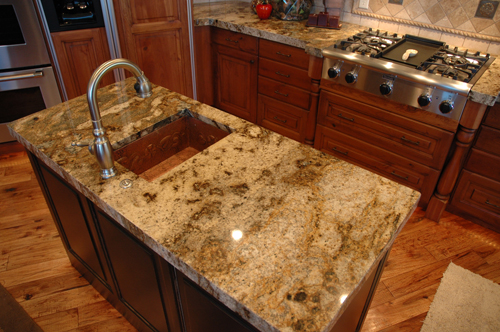 Superbe A Kitchen Done By Us, MGS By Design, With Lapidus Granite Countertops. The  Sink In The Island Is Copper.