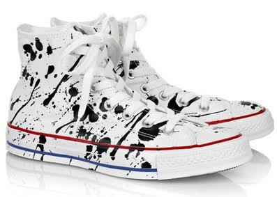 looklookseesee converse paint splatter