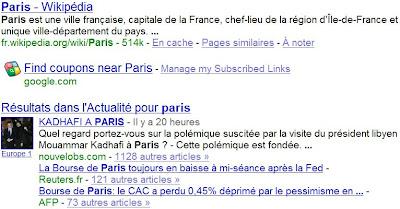 google et les liens abonnes