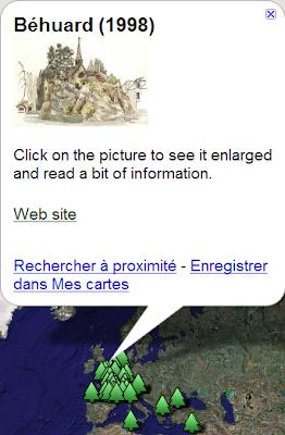 Fifchier KMZ dans Google Maps
