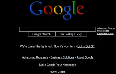 Google Lights Out San Francisco