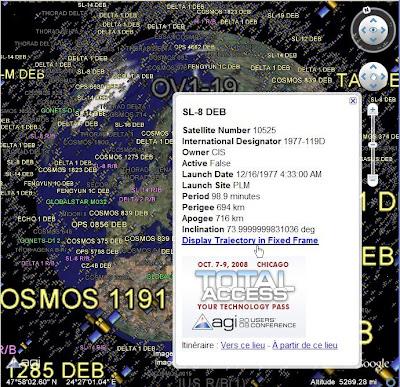 satellites autour de la terre