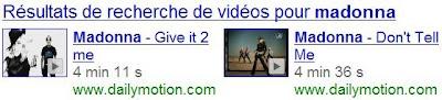 google recherche universelle