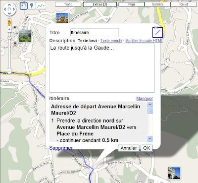 Enregistrer un itinéraire dans Google Maps