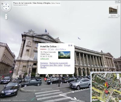 Les commerces intégrés à Google Street View