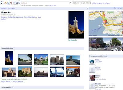 Marseille dans Google Maps