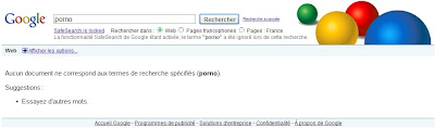 Filtrage strict des recherches dans Google
