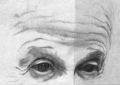 drawing of Einstein