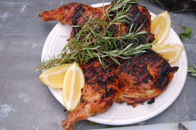 The Art of Food: Tuscan Lemon + Rosemary Chicken under a brick