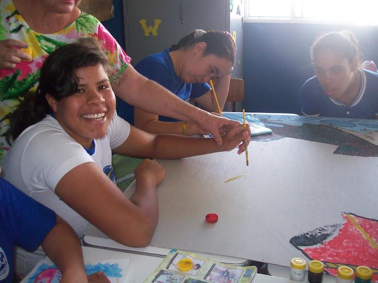 alunos participando da aula