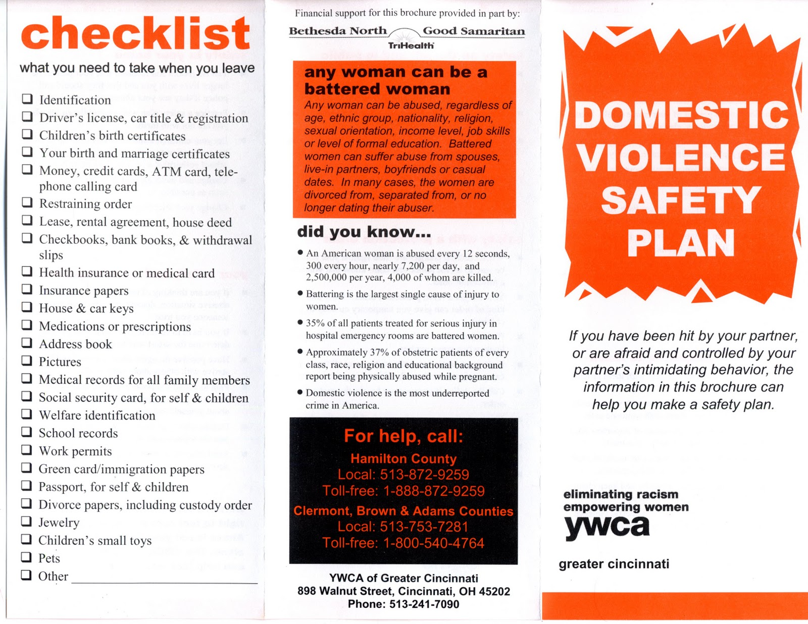 Worksheets Domestic Violence Safety Plan Worksheet reclaim at the university of cincinnati domestic violence safety plan ywca