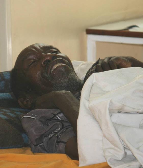 AIDS patient at Berega