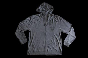 muzzleJab - gray hoodie