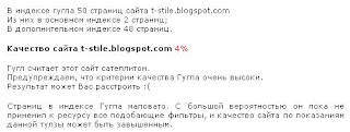 Оценка блога